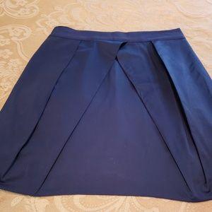 J. Crew Navy pleated skater skirt size 0